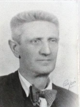 José Brocca - José Brocca as a young school-teacher.