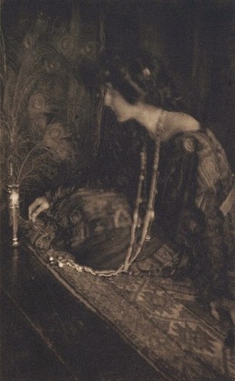 Camera Work - Lenore, by Joseph Keiley. Published in Camera Work No 17, 1907