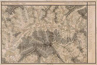 Feliceni - The region on an 18th-century map