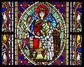 Jugement de Salomon 2, vitrail roman, Cathédrale de Strasbourg.jpg