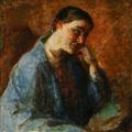 Julius Paulsen, Portræt af kunstnerens hustru, Esther Paulsen, 1933.png