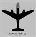 Junkers Ju 287 V2 top-view silhouette.png
