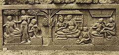KITLV 40080 - Kassian Céphas - Relief of the hidden base of Borobudur - 1890-1891.jpg