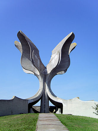 Bogdan Bogdanović - Jasenovac monument (the Flower of Stone), Jasenovac Memorial Park