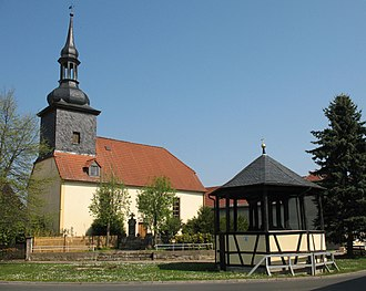 Finneland - Church and bell tower in Kahlwinkel