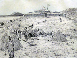 View of the fort built in Karema by the Congo Free State (1883)