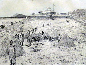 Karema, Tanzania - View of the fort built in Karema by the Congo Free State (1883)