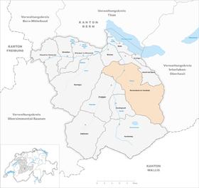 Karte von Reichenbach im Kandertal