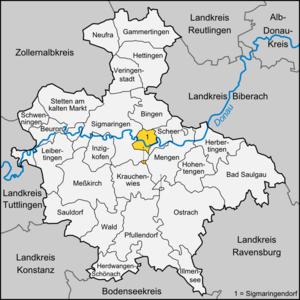 Sigmaringendorf - Image: Karte Sigmaringendorf