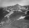 Katmai Glacier, terminus of valley glacier partially covered in rocks and other debris, August 25, 1963 (GLACIERS 7004).jpg