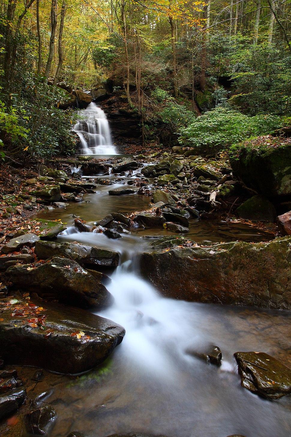 Keeny-creek-wv-autumn-waterfall-scenery - West Virginia - ForestWander