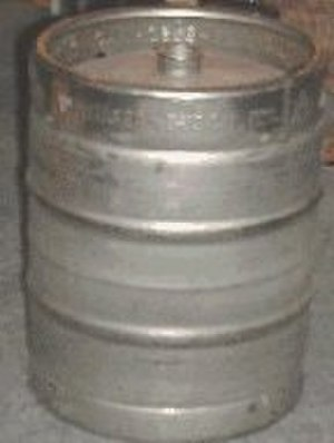 Keg - A typical keg (half-barrel) with a single opening in the center of the top end