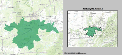 Kentucky's 2nd congressional district - since January 3, 2013.