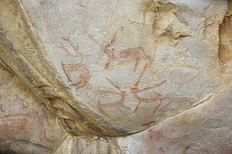 South Asian Stone Age - Ketavaram rock paintings, Kurnool district, Andhra Pradesh
