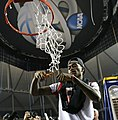 Kevin Ware cuts the net after 2013 NCAA championship.jpg