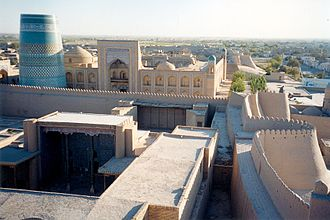 Itchan Kala - City walls of khiva