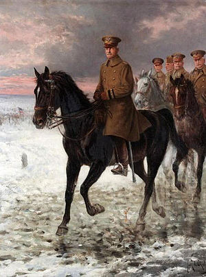 Jan Chełmiński - General Pershing painted by Jan Chełmiński