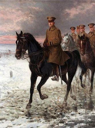 Jan Chełmiński - General Pershing painted by Jan Chełmiński