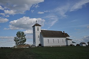 National Register of Historic Places listings in Brule County, South Dakota - Image: Kimball SD Holy Trinity Church