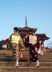 'young women wearing kimono in Kyoto in February 2007' by Mv3112