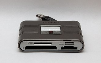 Memory card reader - Typical modern memory card reader, compatible with many common formats