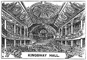 Kingsway Hall - Kingsway Hall in 1925