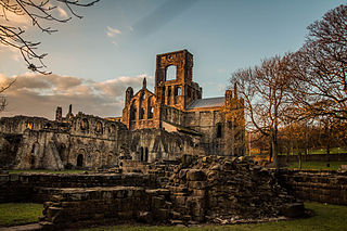 Kirkstall Abbey in the late afternoon
