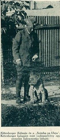 Kittenberger Kálmán és egy oroszlán.jpg