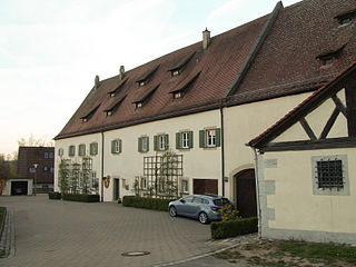 Dombühl Place in Bavaria, Germany
