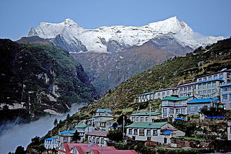 Kongde Ri - Kongde Ri viewed from Namche