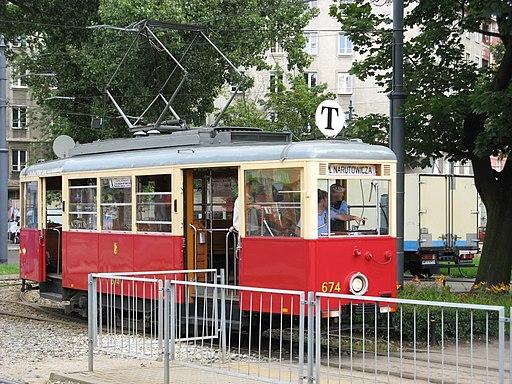 Konstal N tram in Warsaw