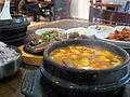 Korean cuisine-Jjigae and galbi.jpg