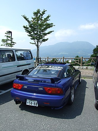 Nissan 180SX - Final 180SX, showing the revised tail lights, spoiler, and rear trims