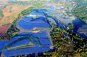 Solar power in Germany - Image: Krughütte Luftaufnahme Parabel