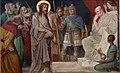 Kruisweg Sint-Pancratiuskerk, Heerlen, statie 01, Jezus wordt ter dood veroordeeld.jpg