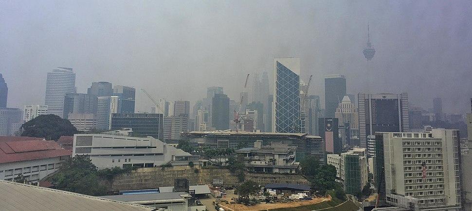 Kuala Lumpur hazy skyline 2019