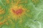 Kurikoma Volcano Relief Map, SRTM-1.jpg