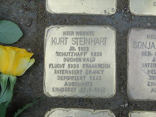 Kurt Steinhart Stolperstein Dresden