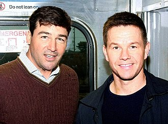 Kyle Chandler - Chandler and Mark Wahlberg filming Broken City in November 2011