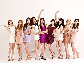 Girls' Generation - Girls' Generation posing for an LG Cinema 3D TV commercial in 2012