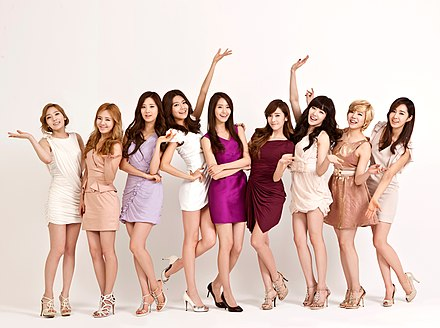O grupo feminino sul-coreano Girls' Generation. - Coreia do Sul