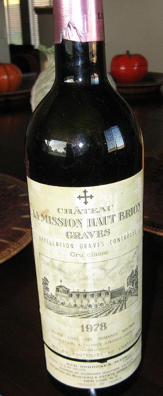 Château La Mission Haut-Brion - Château La Mission Haut-Brion 1978 label