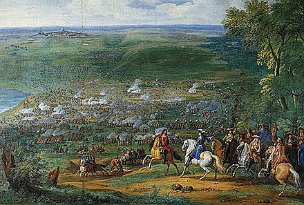 The Battle of Rocroi (1643) resulting in the destruction of many of the long-serving professionals at the heart of the Army of Flanders. La Bataille de Rocroi.jpg