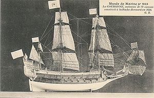 French ship Couronne (1636) - Image: La Couronne Gaston Braun