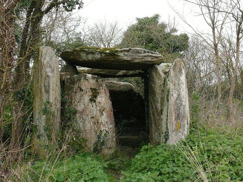 Fessine's dolmen in La Meignanne (Maine-et-Loire, Pays de la Loire, France).