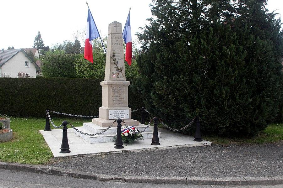 Monument aux morts de La Vèze (Doubs).