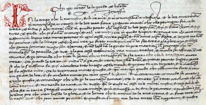 File:La lezenda de Barllam e Joxaffa 1465.djvu
