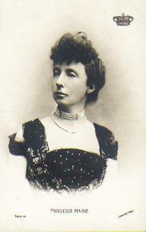 Prince Valdemar of Denmark - Prince Valdemar's wife Princess Marie of Orléans.