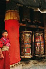 A young monk at Labrang