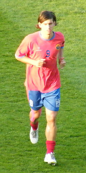 Zsolt Laczkó - Laczkó playing for Vasas SC